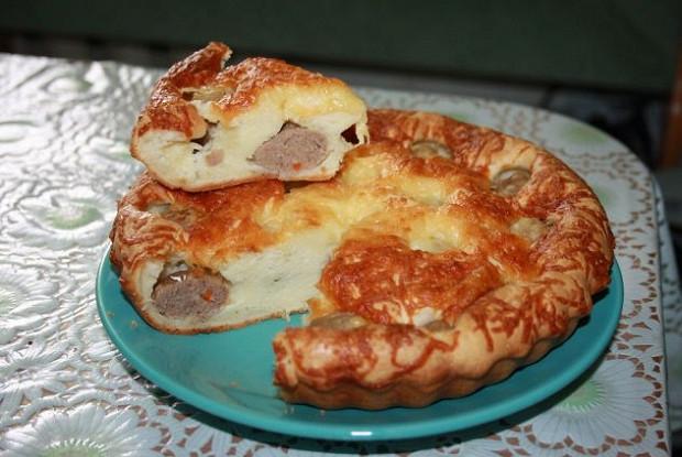 Пирог из фрикаделек
