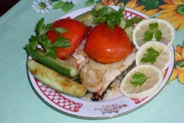 Филе рыбы по-гречески (Саламис)