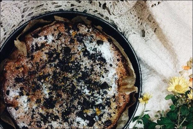 Яблочно-твороженный кекс