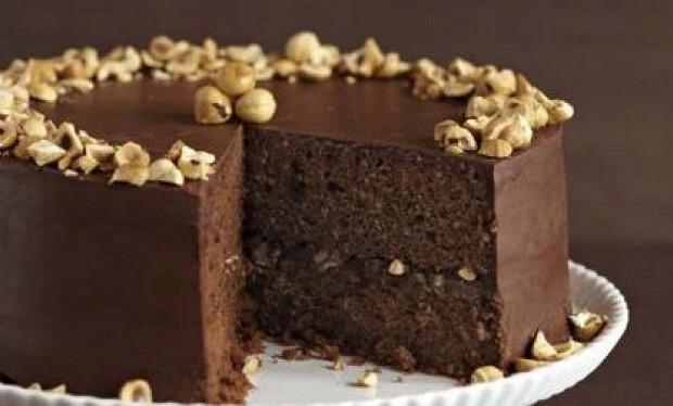 Шоколадный торт с орехами для мультиварки