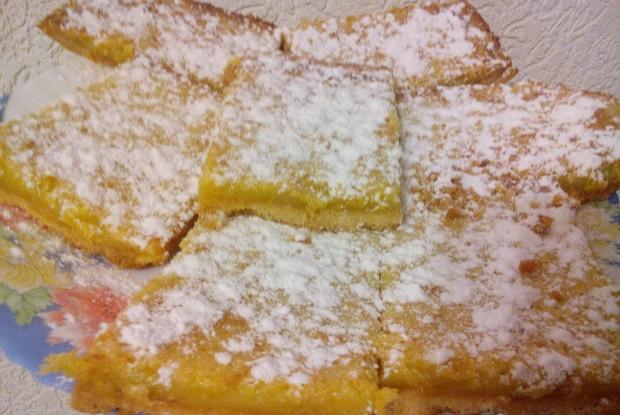 Цитрусовый торт в сахарной пудре