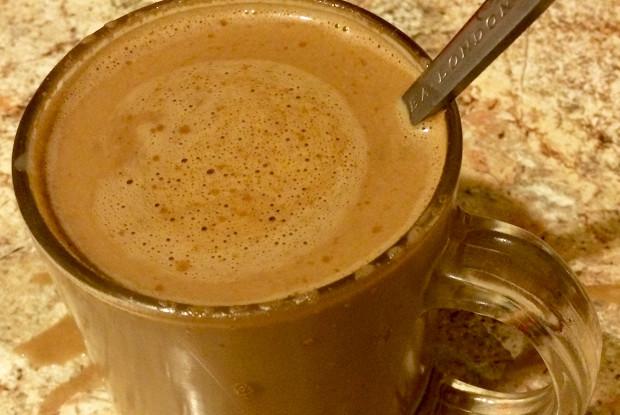 Кофе с шоколадом и сгущеным молоком
