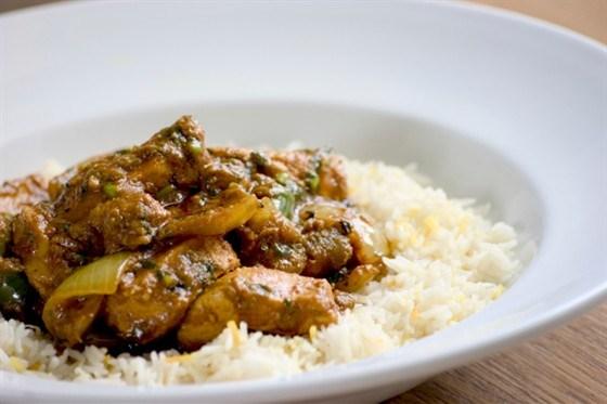 Курица с жасминовым рисом