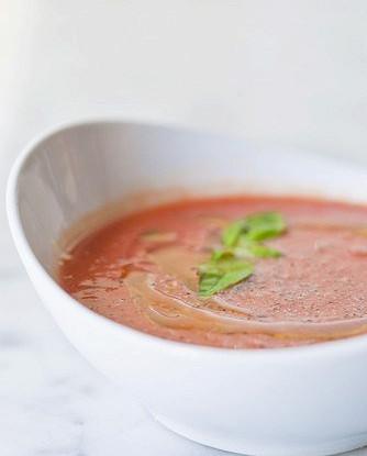 Суп из сливы и ревеня