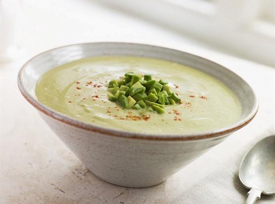 Сливочный суп из авокадо и кокоса