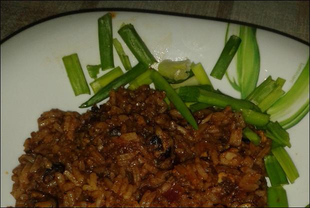 Пряный рис с мидиями