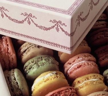 Шоколадно-миндальные пирожные макароны
