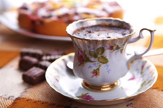 Горячий шоколад с лесными ягодами