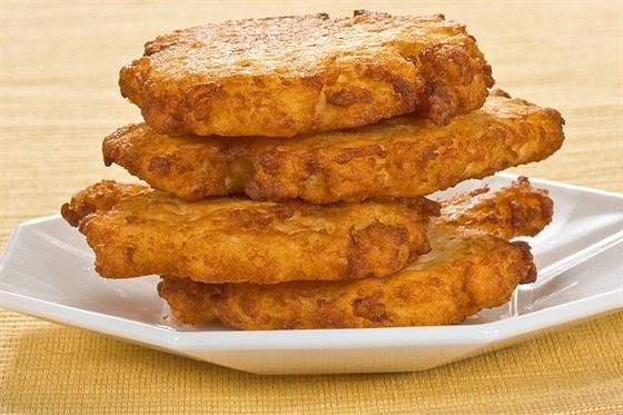 Картофельные лепешки с брынзой