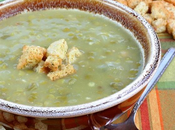 Суп-пюре из фасоли или гороха