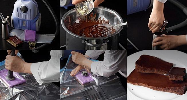 Как сделать пористый шоколад с помощью пылесоса