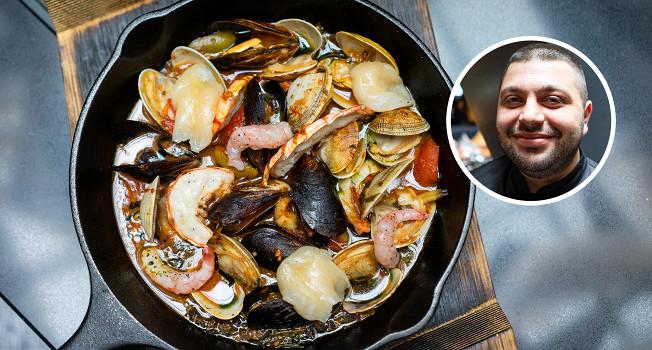 Как сделать соте из морепродуктов