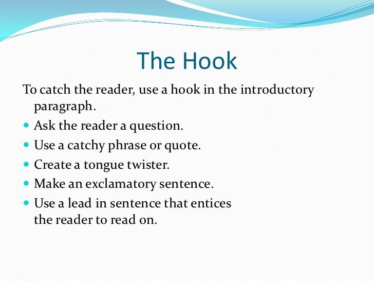 Catchy hooks for essays