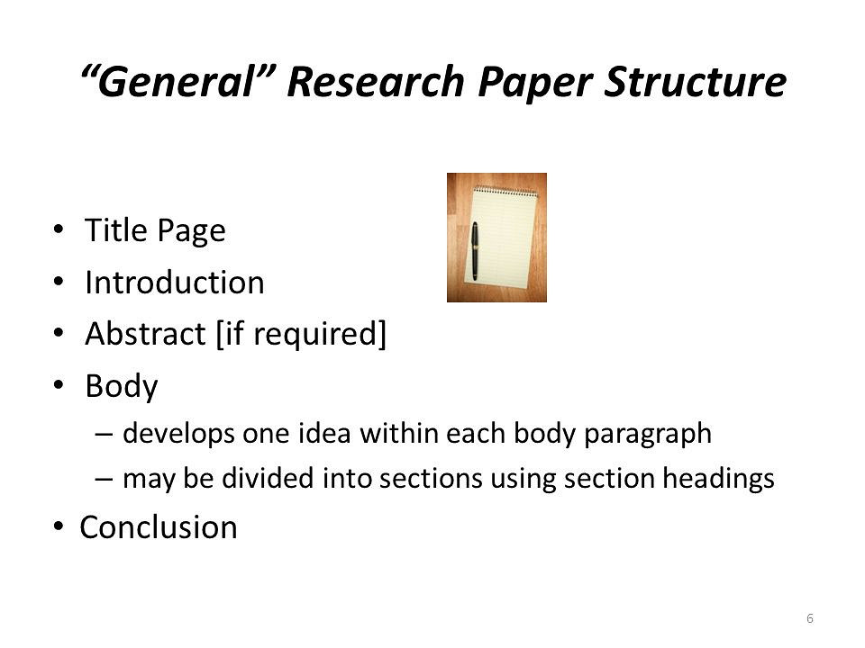 header for a research paper The basic components of an original research article are omit a header and page number on the cover page body of the paper or report: add a header after the.