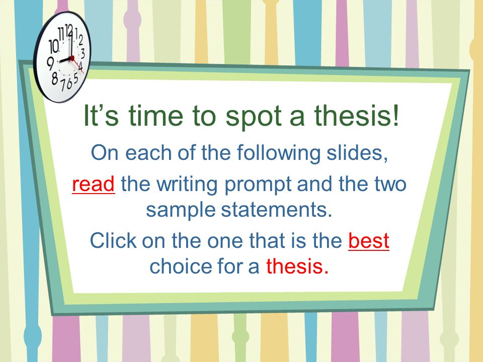 Write my writing up thesis