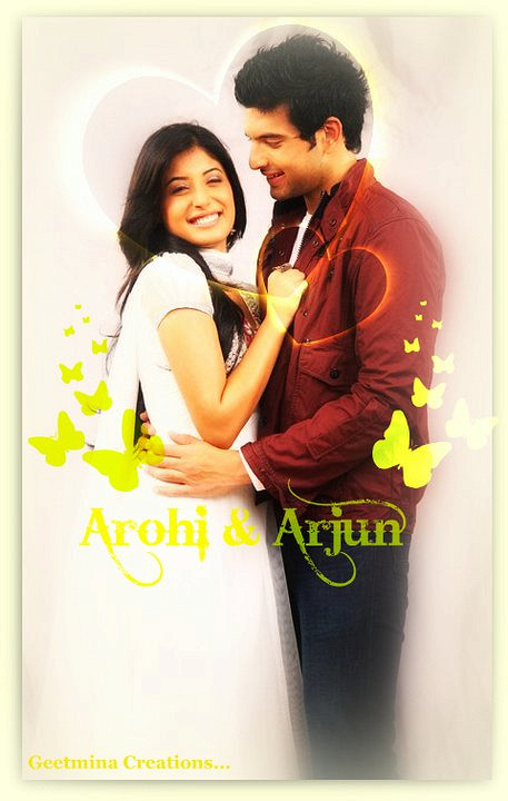 Karan and Kritika as Arjun and Arohi in Kitani Mohabbat Hai 2