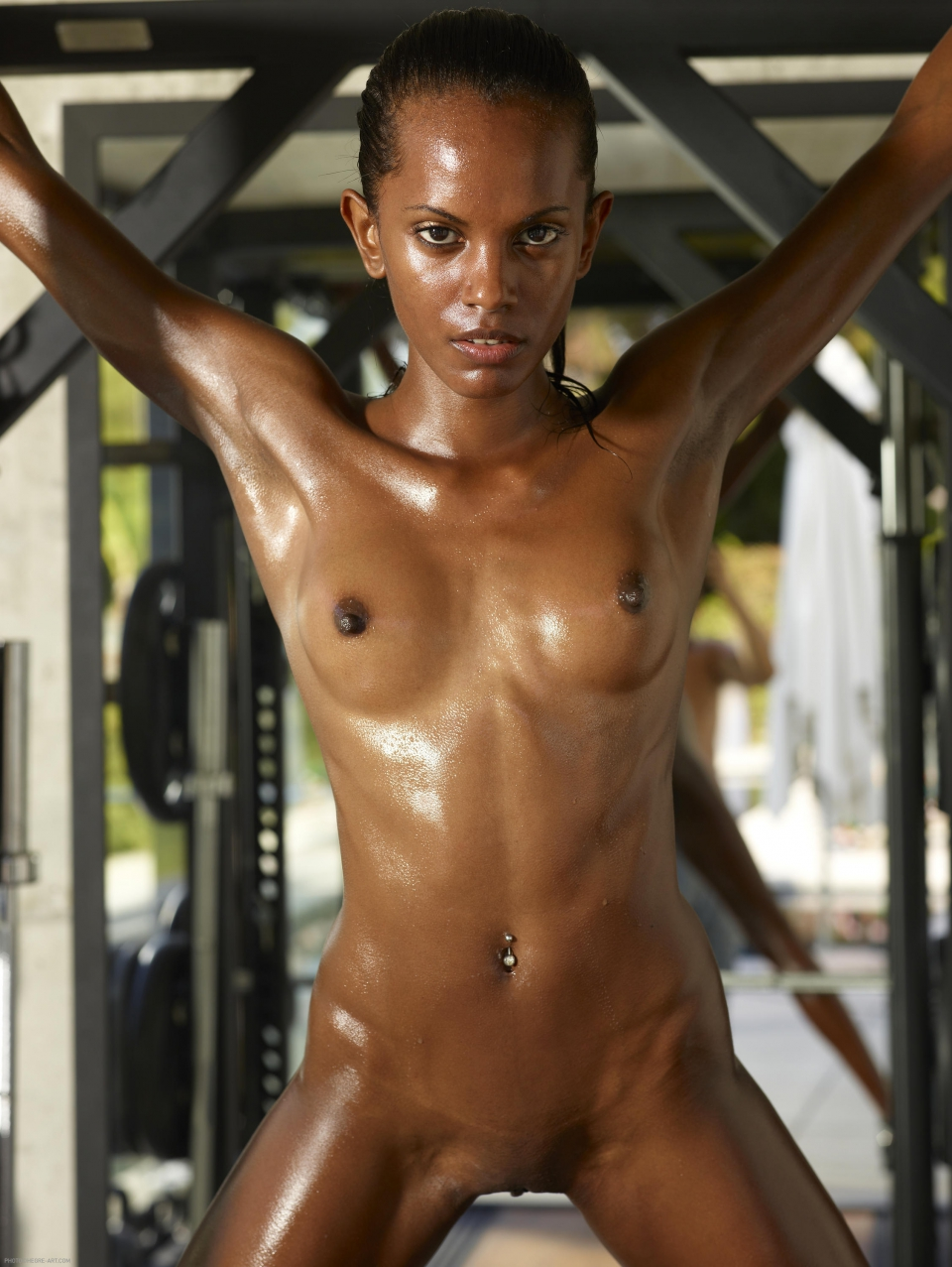 Skinny Nude Black Women - Interracial-2361
