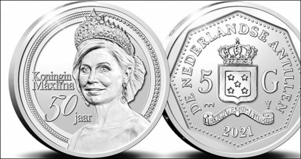 50-летие королевы Максимы на5гульденах