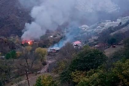 Покидающие Нагорный Карабах жители сожгли свои дома
