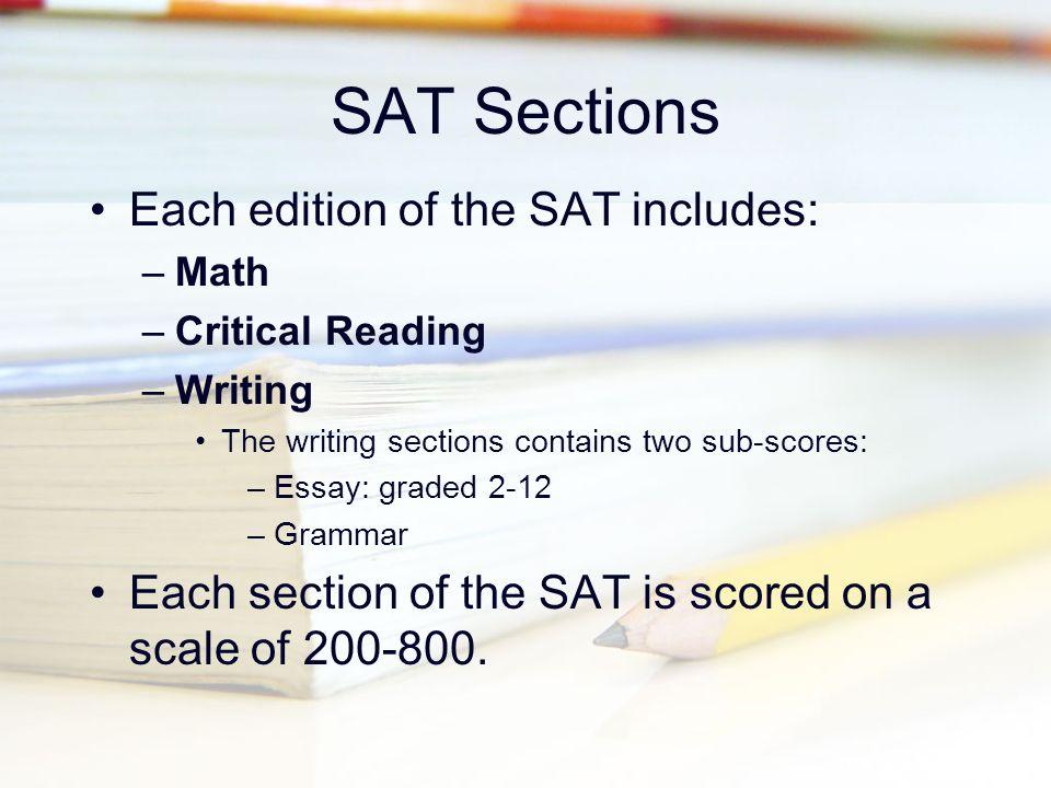 Sat reasoning test essay