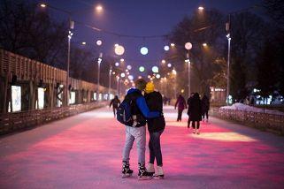 Новогодний каток в Парке Горького - ночной сеанс